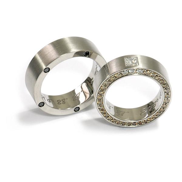 Eheringe Palladium Diamant Brillanten (1006201)