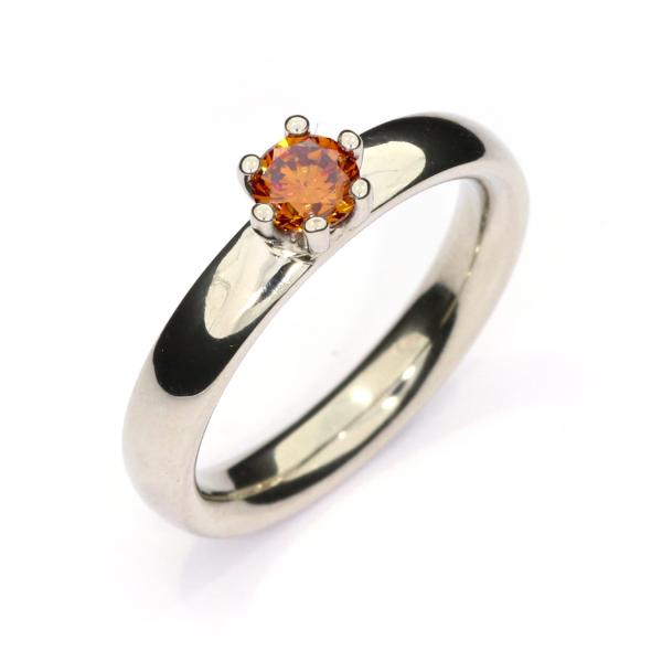 Verlobungsring Brillant orange Palladium (1009059)