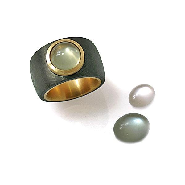 Ring Carbon Mondstein Roségold (250078)